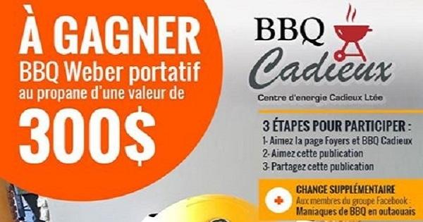Concours gagnez un bbq weber portatif au propane concours en ligne qu bec - Barbecue weber portatif ...