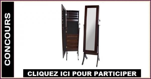 concours gagnez un miroir coffre bijoux concours en ligne qu bec. Black Bedroom Furniture Sets. Home Design Ideas