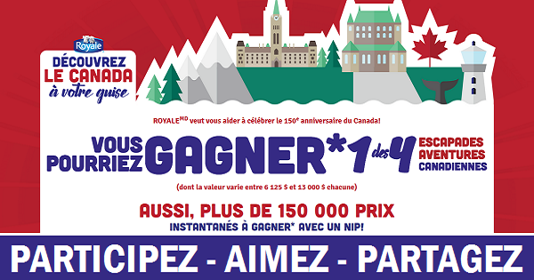 Concours Gagnez une escapade Aventure Canadienne!