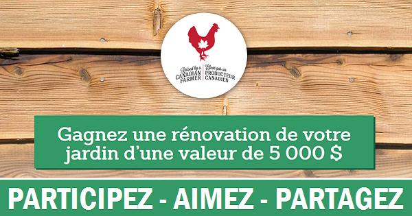 Concours Gagnez une rénovation de votre jardin!