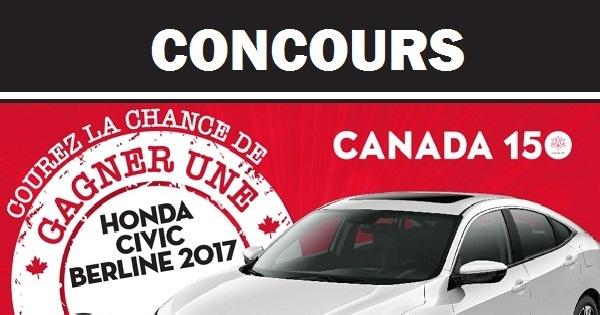 Concours Gagnez une Honda Civic berline LX 2017!