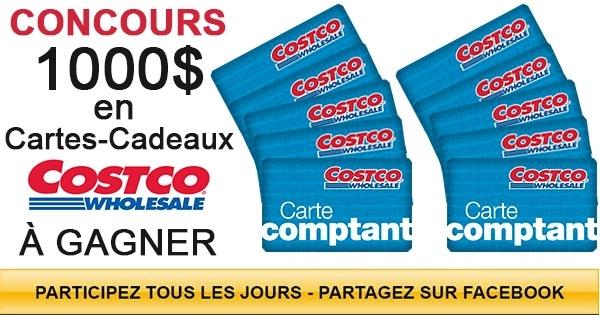Concours Gagnez 100$ à dépenser chez Costco!