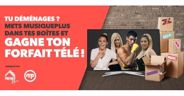 Concours GAGNEZ UN FORFAIT TÉLÉ D'UNE VALEUR DE 1000$ !