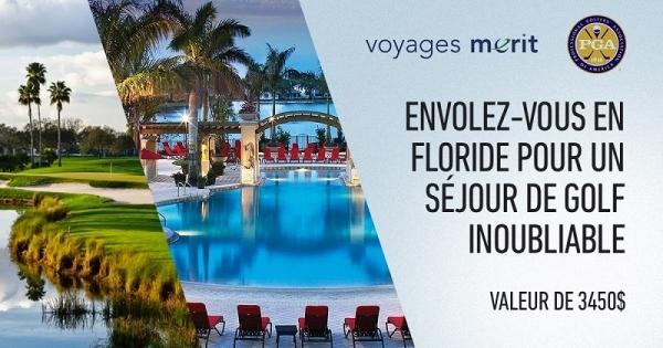 concours gagnez un voyage pour 2 en floride pour un s jour au pga national resort and spa. Black Bedroom Furniture Sets. Home Design Ideas