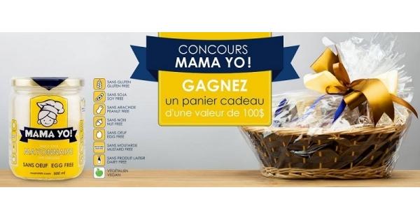 Concours Gagnez un panier cadeau MamaYo d'une valeur de 100$!
