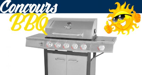 Concours Gagnez un  BBQ de marque Grill Chef de 72 000 BTU !