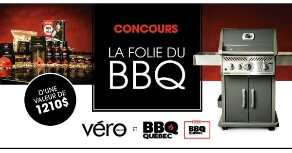 Concours La folie du BBQ : un barbecue et un ensemble d'accessoires à gagner