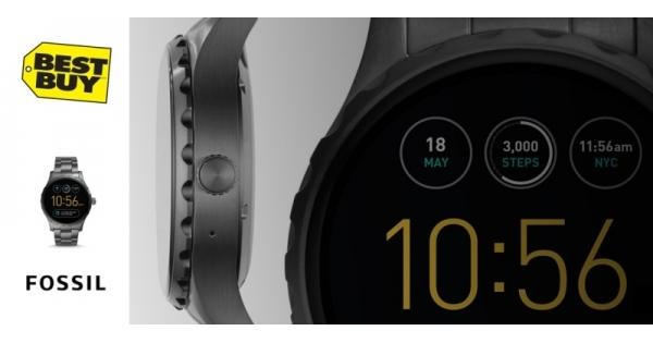 Concours Gagnez une montre intelligente Fossil pour hommes qui affiche les notifications de votre téléphone et calcule vos pas!