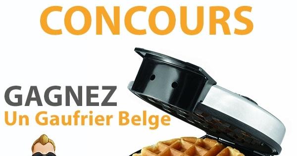 Concours Gagnez un Gaufrier Belge