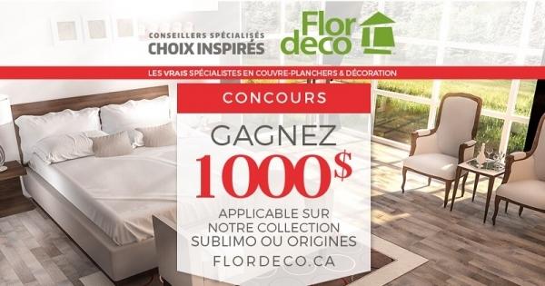 Concours Gagnez 1000$ chez Flodeco!