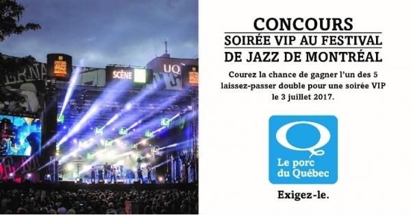 Concours Soirée VIP au Festival de Jazz de Montréal!