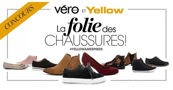 Concours Gagnez 1 000 $ de chaussures Yellow!