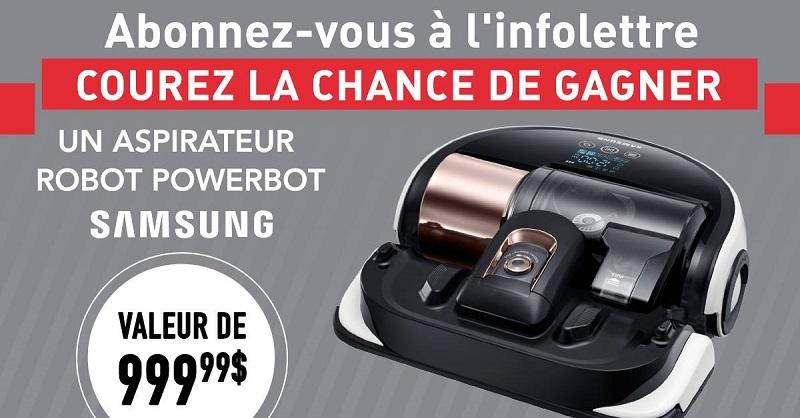 Concours gagnez un aspirateur robot powerbot d 39 une valeur for Liquida meuble quebec