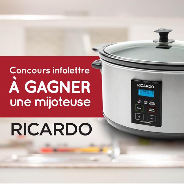 Concours gagnez une mijoteuse ricardo concours en ligne - Ricardo cuisine concours ...