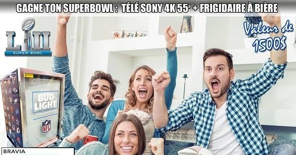 Concours GAGNE TON SUPERBOWL!