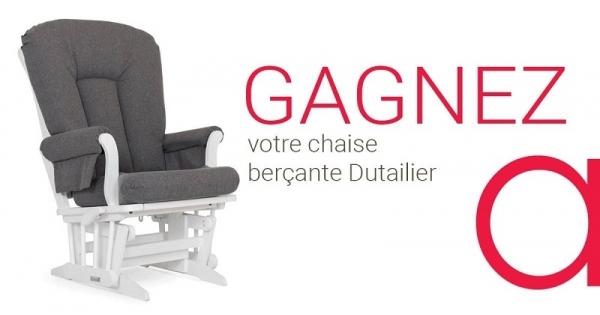 concours gagnez votre chaise ber ante dutailier en bois. Black Bedroom Furniture Sets. Home Design Ideas