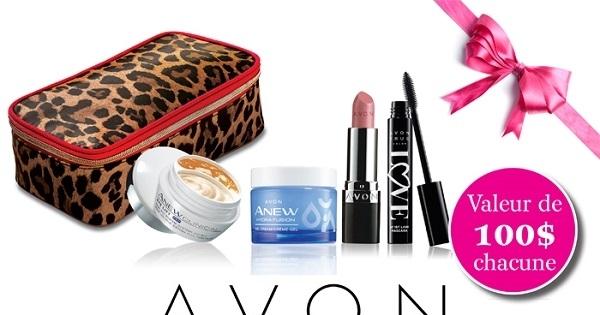 Concours Gagnez l'une de cinq collections beauté d'Avon d'une valeur de 100$ chacune!