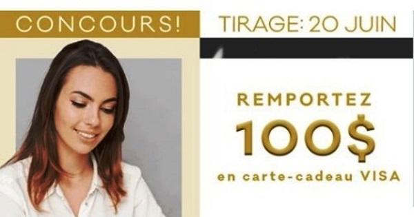 Concours GAGNEZ UNE CARTE-CADEAU VISA PRÉ-PAYÉ DE 100$!