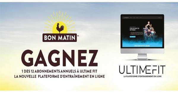 Concours Gagnez un des 12 abonnements annuels à Ultime Fit, la nouvelle plateforme d'entraînement en ligne!