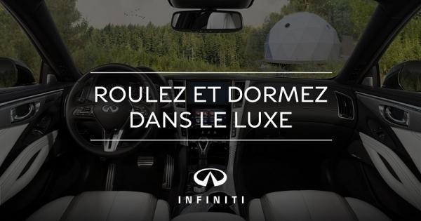 Concours Gagnez un séjour de deux nuitées à Dômes Charlevoix ainsi  que la location d'un véhicule Infiniti pour tout le week-end!