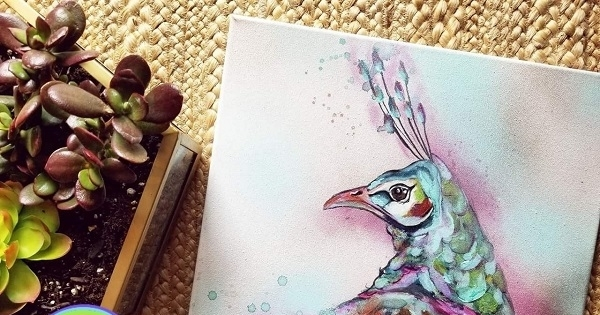 Concours Gagnez une oeuvre colorée signées Gabriella Deland Artiste Peintre!