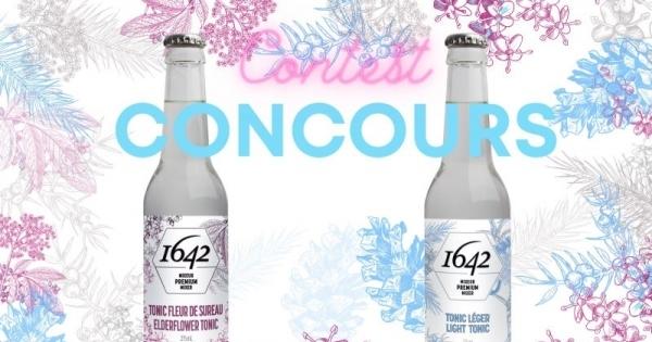 Concours Gagnez un 4 pack de tonic 1642 de chaque saveur livré à votre porte!