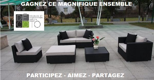 Concours gagnez des meubles de jardin concours en ligne for Meuble en ligne quebec
