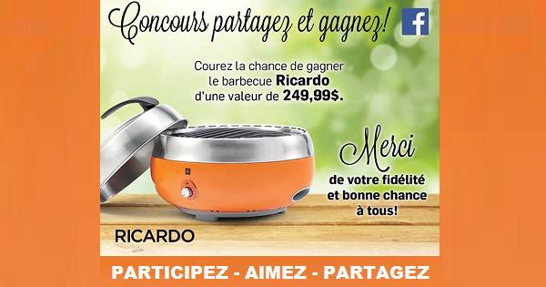Concours gagnez un bbq ricardo concours en ligne qu bec - Ricardo cuisine concours ...