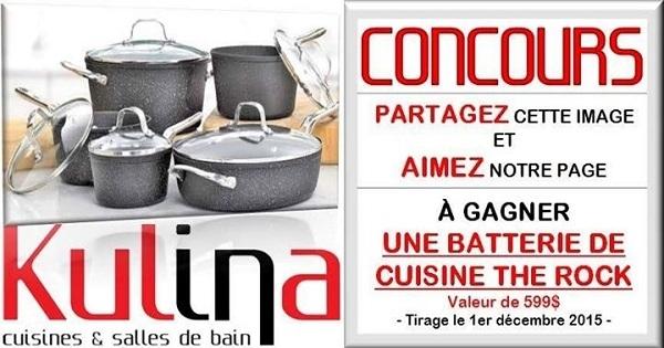 Concours gagnez une batterie de cuisine the rock - Batterie de cuisine the rock ...