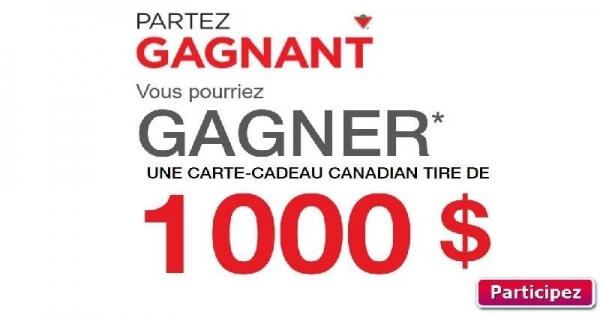 concours gagnez une carte cadeau canadian tire de 1000 concours en ligne qu bec. Black Bedroom Furniture Sets. Home Design Ideas