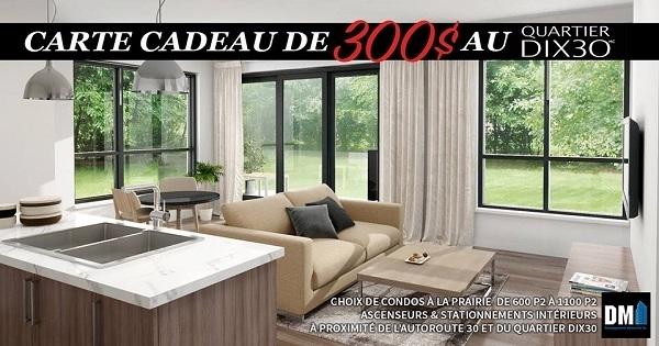 Concours gagnez 300 d penser au quartier dix30 for Dix30 meubles