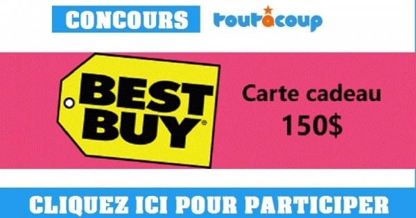concours gagnez une carte cadeau best buy de 150. Black Bedroom Furniture Sets. Home Design Ideas