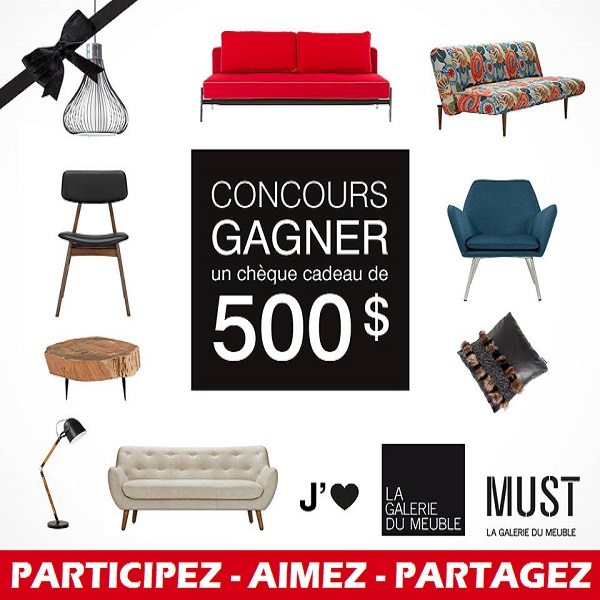 Concours argent cartes cadeaux concours en ligne - La galerie du meuble contemporain ...