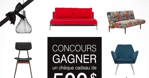 Concours gagnez 500 d penser dans la galerie du meuble for La galerie du meuble