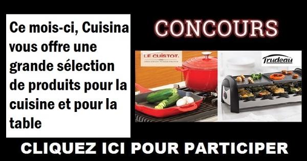 Concours gagnez une grande s lection de produits pour la - Table pour la cuisine ...