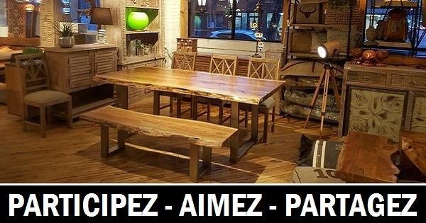 Concours gagnez une superbe table de salle manger for Table salle a manger quebec
