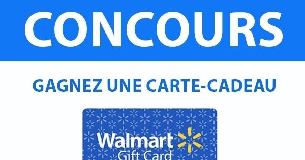 Concours Gagnez 1000$ à dépenser chez Walmart!