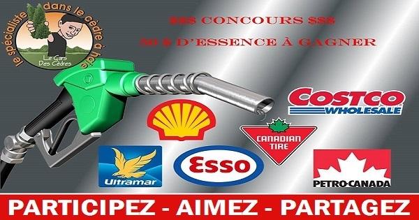Concours Gagnez 50$ d'essence!