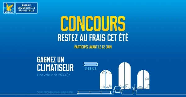 Concours gagnez un climatiseur concours en ligne qu bec for Climatiseur mural quebec